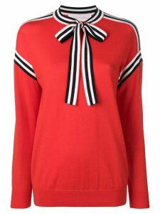 Victoria Victoria Beckham neck tie sweater - Red