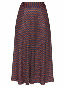 Wales Bonner geometric print midi skirt - Magic Multi