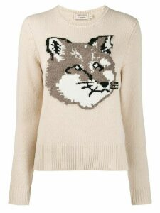 Maison Kitsuné fox knitted jumper - Neutrals
