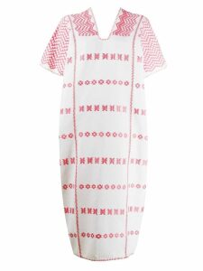 Pippa Holt patterned shift dress - White