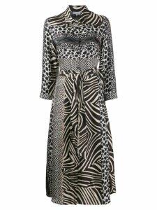 Pierre-Louis Mascia animal print dress - Brown