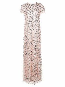 Carolina Herrera flower embroidery gown - Pink