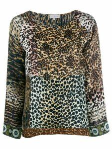 Pierre-Louis Mascia animal print blouse - Brown