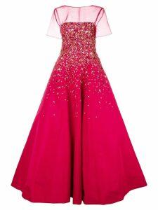 Carolina Herrera strapless embroidered gown
