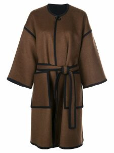 Rosetta Getty reversible cocoon coat - Blue
