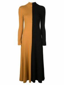 Rosetta Getty colour block knitted dress - Yellow