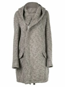 Rick Owens oversized hooded midi coat - Grey