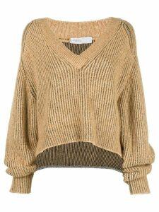 Rosetta Getty cropped V-neck sweater - Yellow