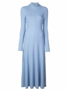 Rosetta Getty longsleeved turtleneck dress - Blue