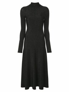 Rosetta Getty longsleeved zip-up dress - Black