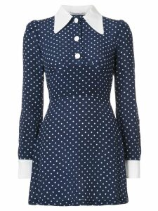 Alessandra Rich polka dot dress - Blue