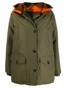 Woolrich single-breasted coat - Green