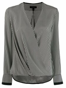 Rag & Bone striped draped top - Black