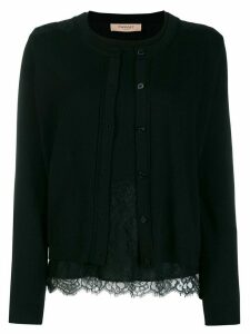 Twin-Set lace cardigan top - Black