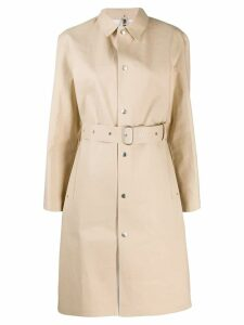 Jil Sander belted trench coat - Neutrals