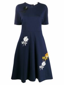Tory Burch floral print flare dress - Blue