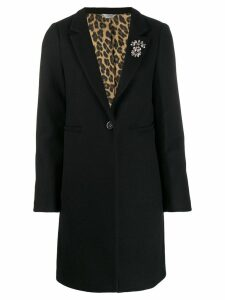 Liu Jo single-breasted wool coat - Black