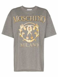 Moschino logo print T-shirt - Grey