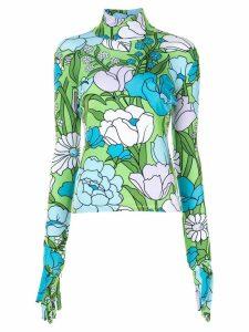 RICHARD QUINN floral print blouse - Green