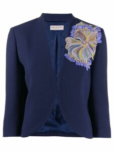Emilio Pucci sequinned flower blazer - Blue