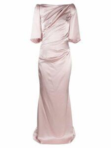 Talbot Runhof Lobata evening dress - Neutrals