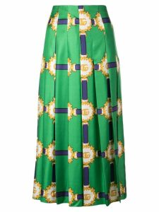 Gucci Double G patterned midi skirt - Green