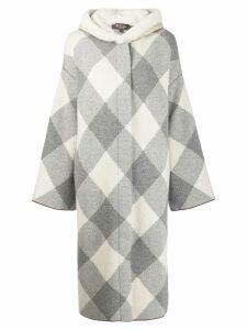 Loro Piana long shearling coat - Grey