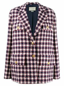 Gucci oversized check blazer - Blue
