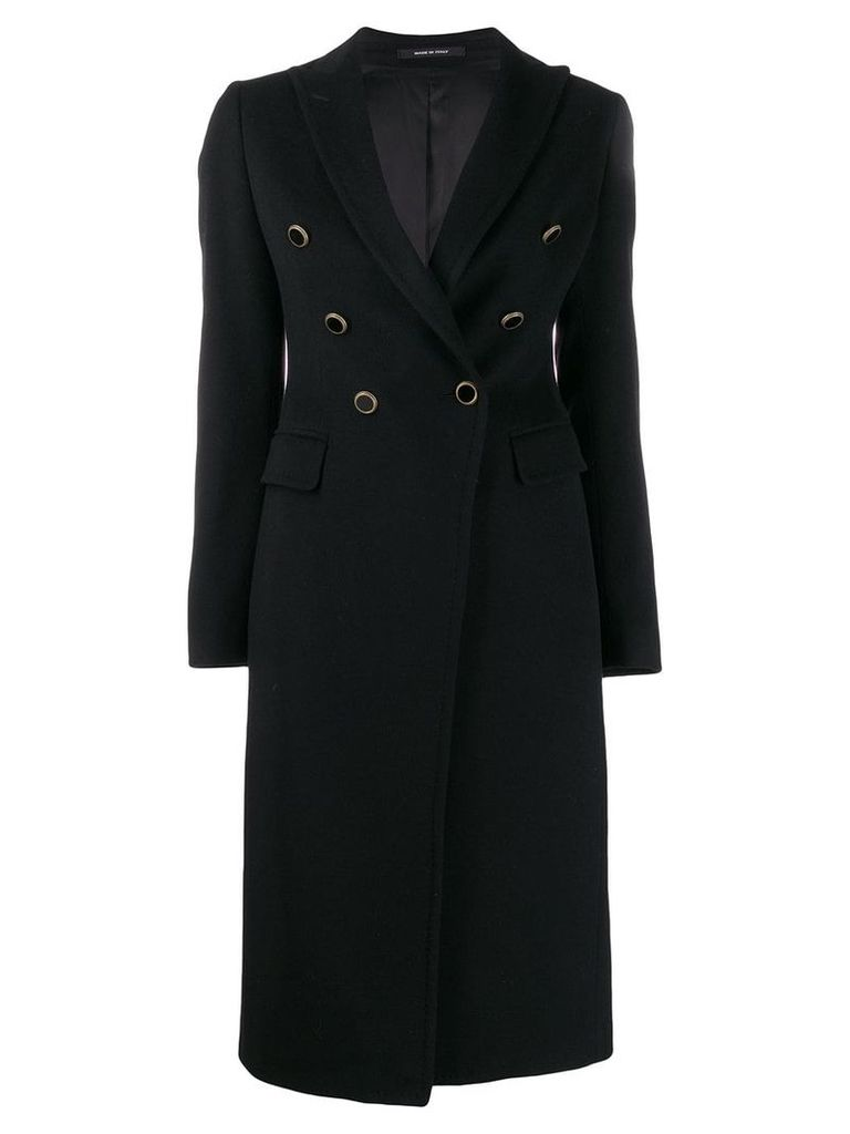 Tagliatore Caletha double-breasted coat - Black