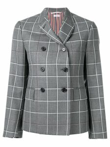 Thom Browne Windowpane Twill Sport Coat - Grey