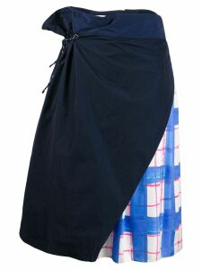 Mira Mikati layered drawstring skirt - Blue