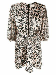 Alexandre Vauthier leopard-print dress - PINK