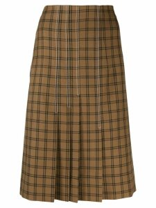 Marni plaid pleated skirt - Brown