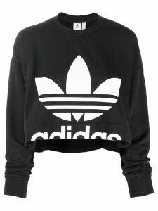 Adidas logo print sweatshirt - Black