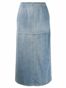 Mm6 Maison Margiela denim midi skirt - Blue