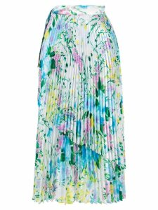 Richard Quinn floral pleated skirt - Blue