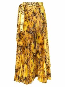 Richard Quinn floral pleated skirt - Yellow
