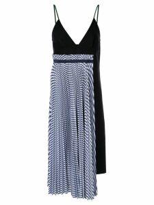 Sacai spaghetti strap dress - Blue