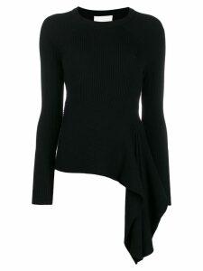 3.1 Phillip Lim draped knitted jumper - Black