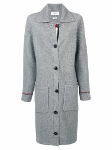 Thom Browne RWB Tipping Over Washed Duffle Coat - Grey