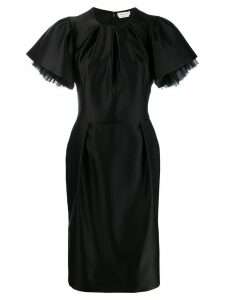Alexander McQueen puff sleeves fitted dress - Black