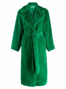 P.A.R.O.S.H. oversized faux-fur coat - Green