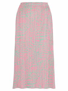 Pleats Please Issey Miyake printed pleated midi skirt - Pink