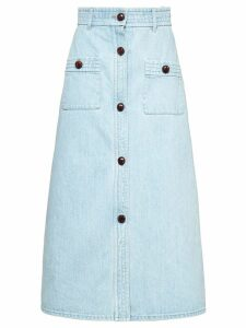 Miu Miu bleached denim skirt - Blue
