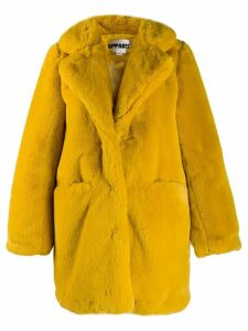 Apparis Sophie faux fur coat - Yellow