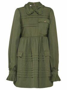 Miu Miu ruffled short dress - Green