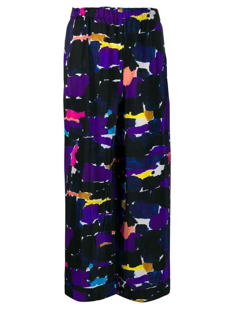 Daniela Gregis abstract print silk skirt - Black