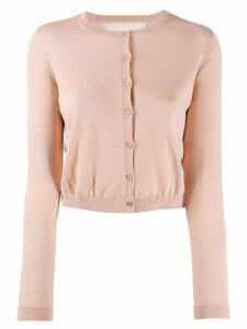 Red Valentino cropped knit cardigan - Neutrals