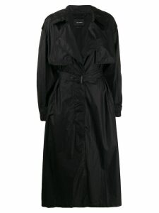 Isabel Marant concealed front trench coat - Black