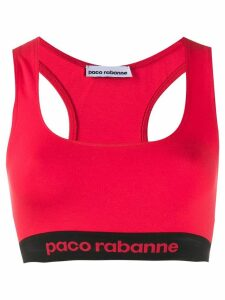 Paco Rabanne racerback bra top - Red